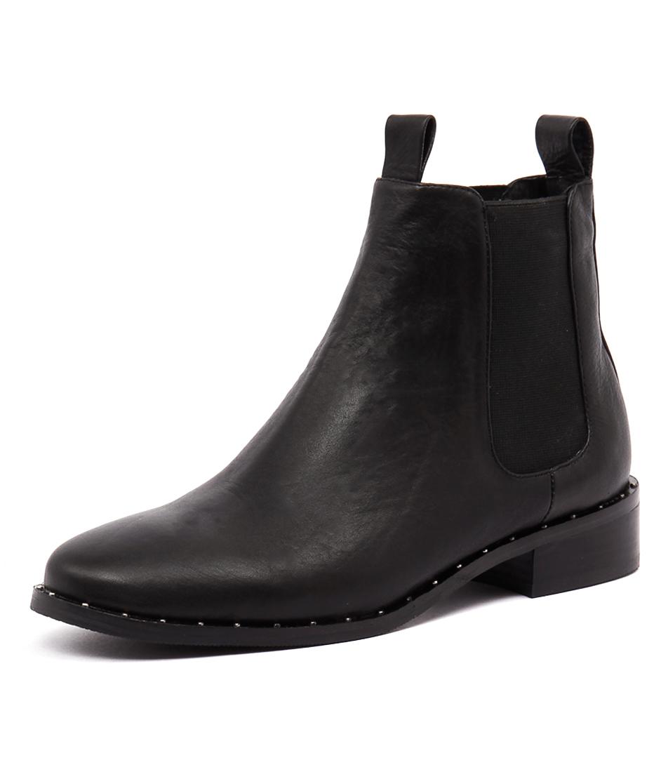 Mollini Fenny Black Leather Boots
