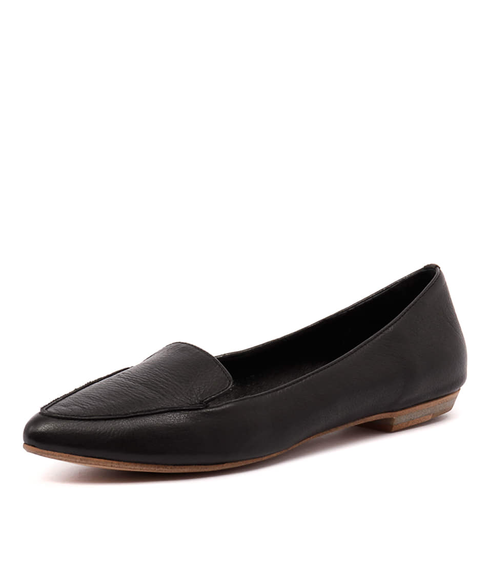 Mollini Gyro Black Leather Loafers Shoes Online Shopping