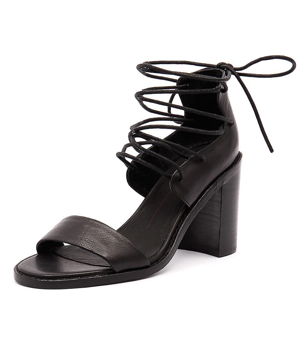 Mollini Juliez Black Leather Sandals