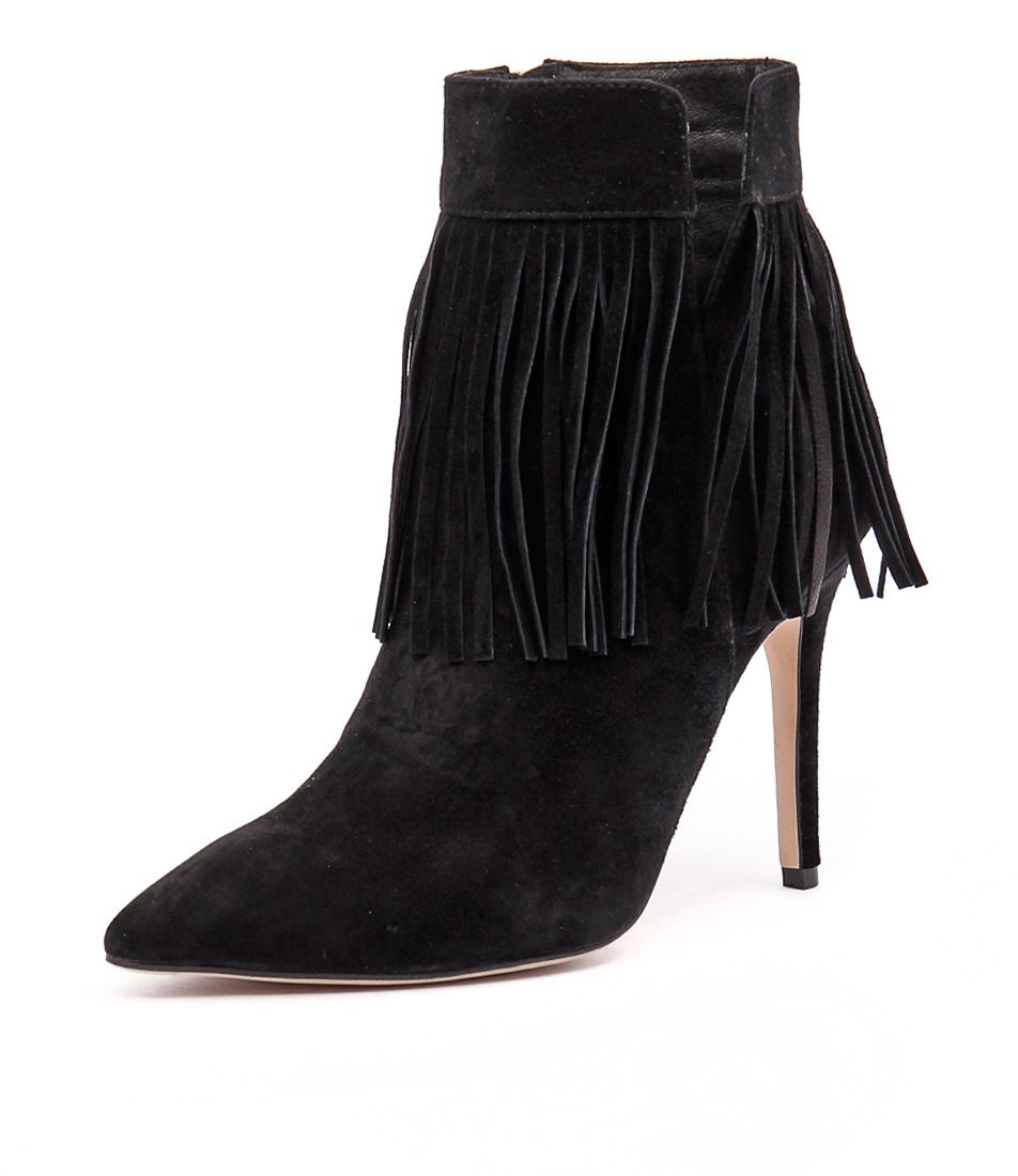 Mollini Petter Black Suede Boots