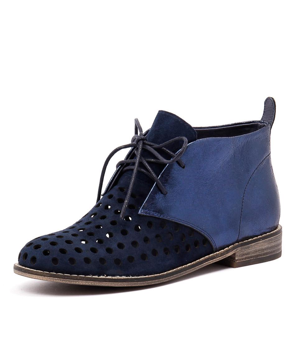 Mollini Quagin Navy Suede-Navy Metallic Boots