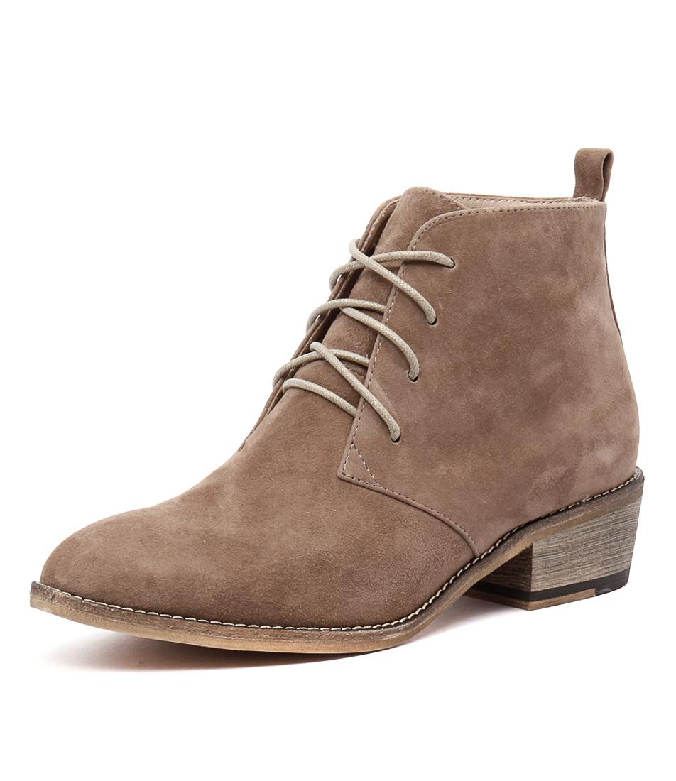 Mollini Zanie Taupe Suede Boots