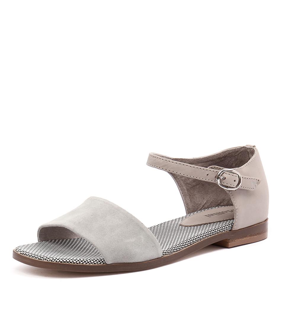 Mollini Palena Light Grey Suede-Light Grey Sandals