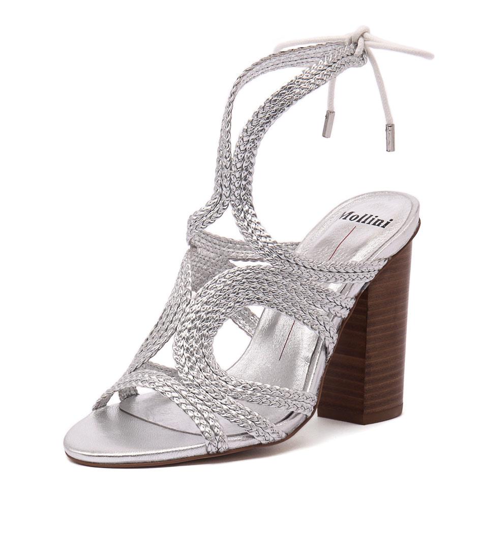 Mollini Freddy Silver Weave Sandals