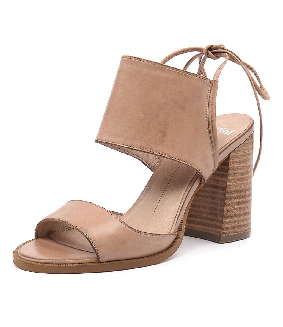 Mollini Mindy Nude Leather-Natural Heel Sandals