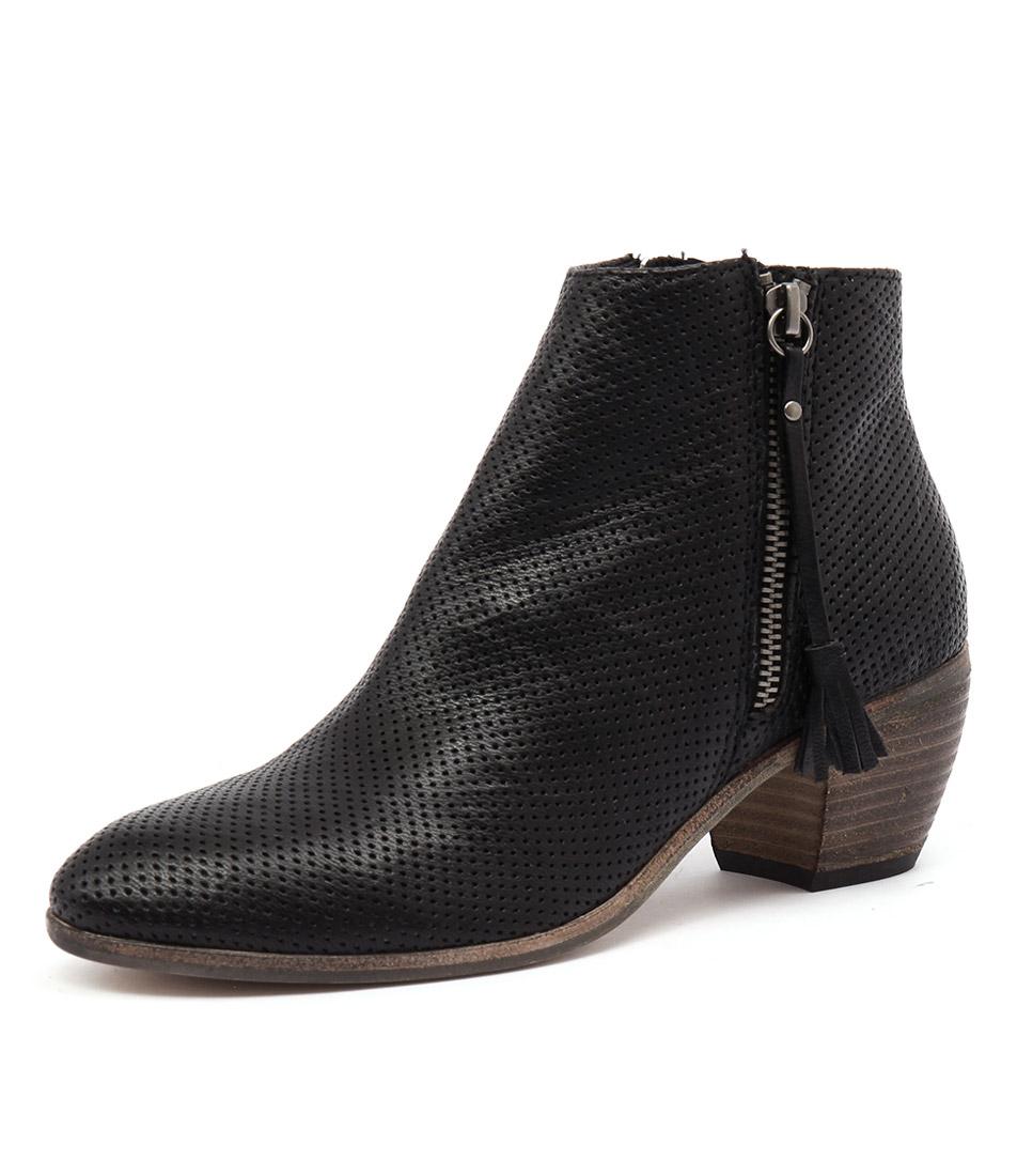 Mollini Metez Black Perforated Boots