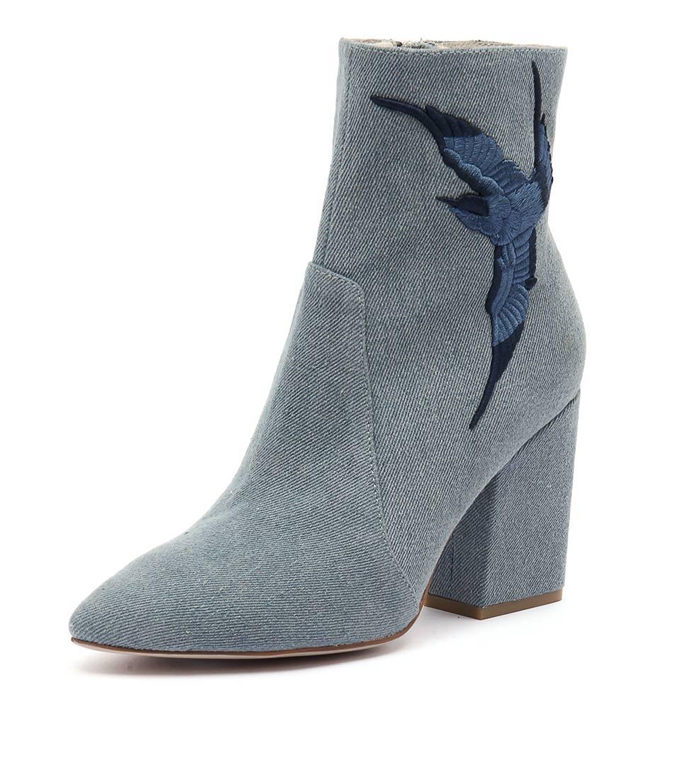 Mollini Marten Light Blue Denim Boots