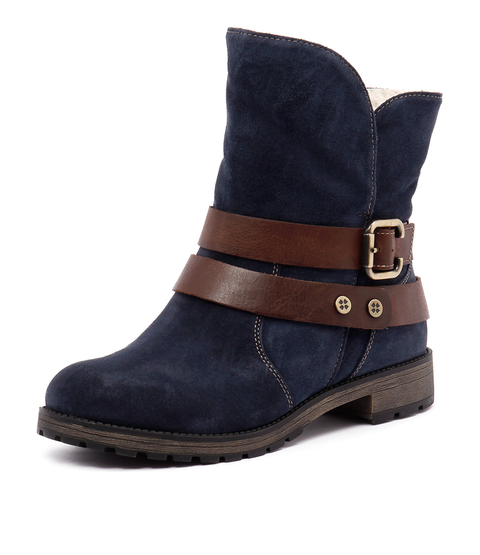 Naturalizer Talley Navy Boots