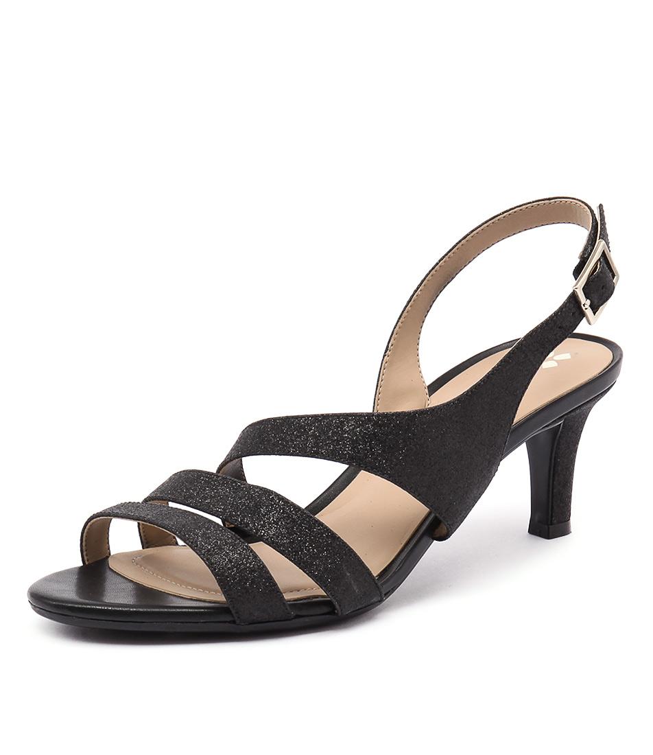 Naturalizer Taimi Black Glitter Sandals