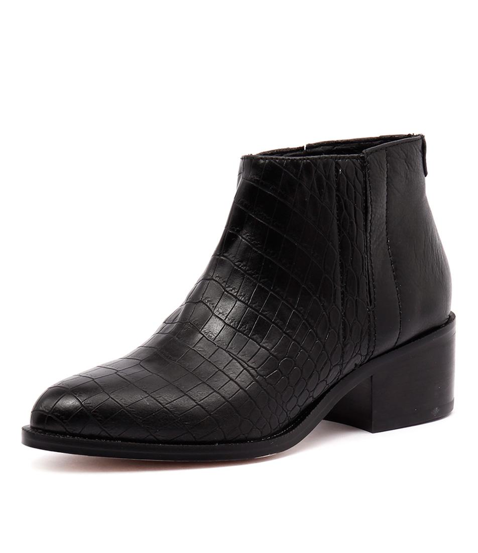 Nude Wonder Black Matt Croc Boots