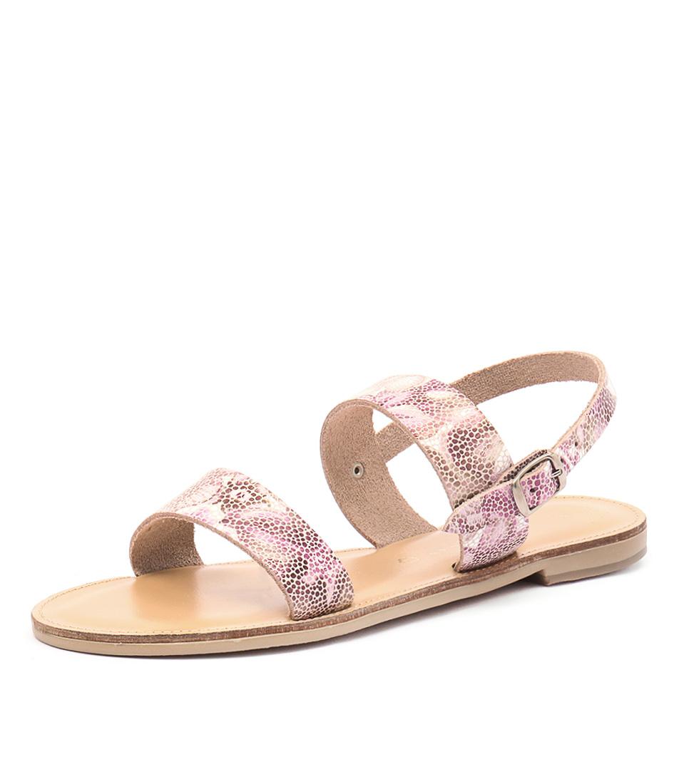 Nicolas Lainas Nia Pink Flower Sandals
