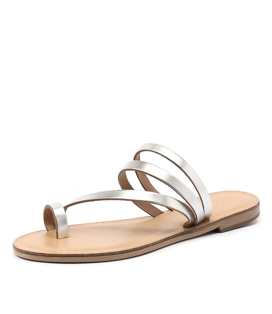 Nicolas Lainas Neema Silver Sandals