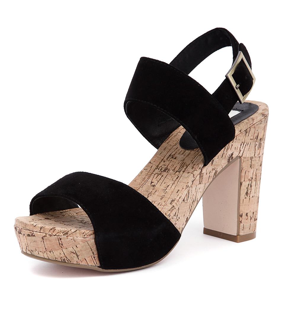 Nude Chi Chi Black Suede Sandals