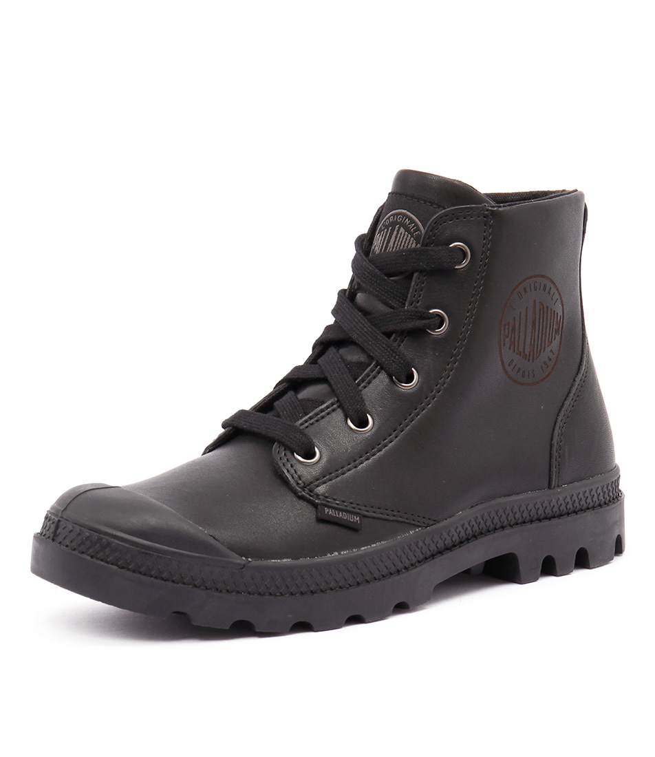 Palladium Pampa Hi Black Leather Boots