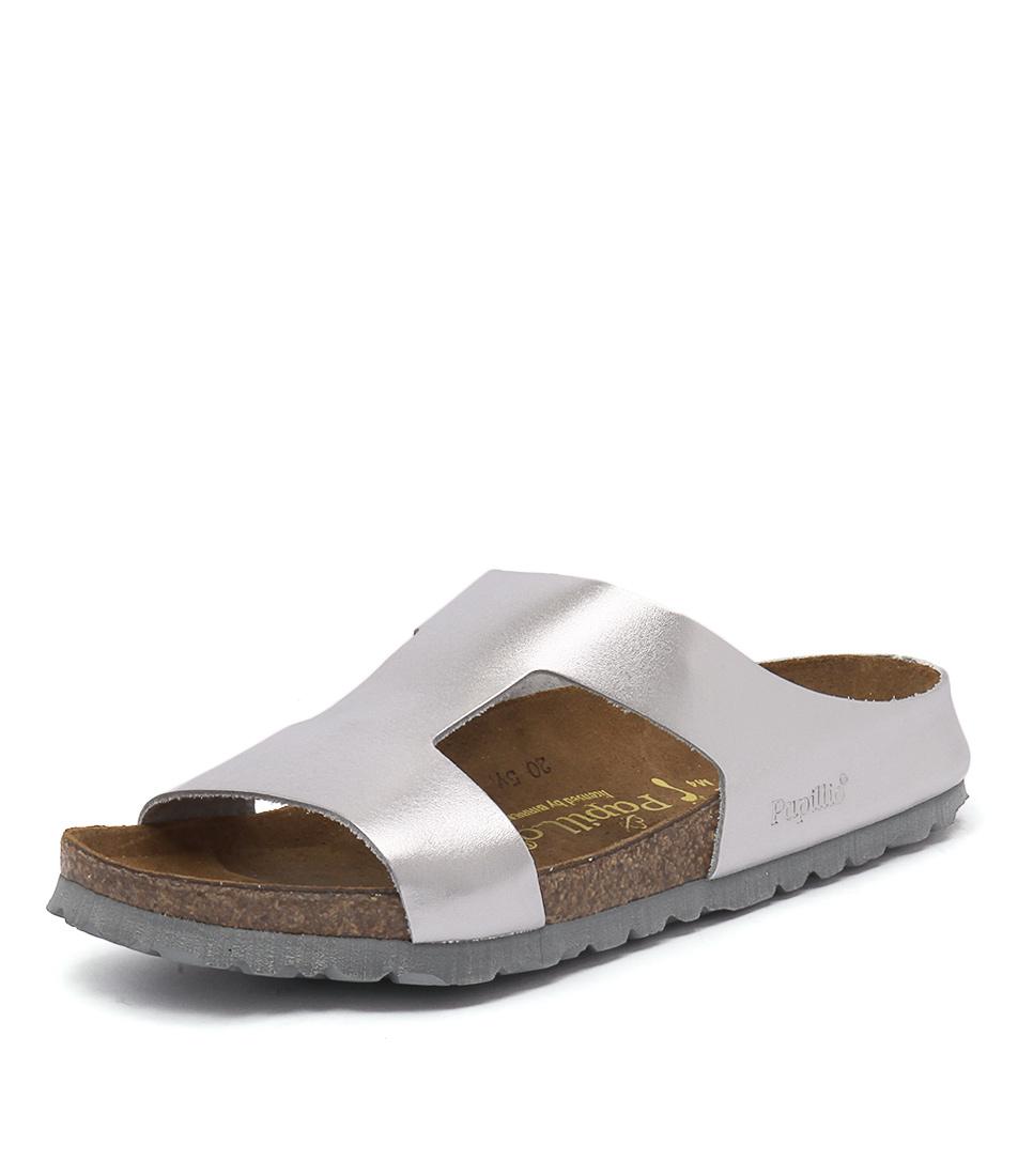 Papillio by Birkenstock Charlize Metallic Silver Sandals