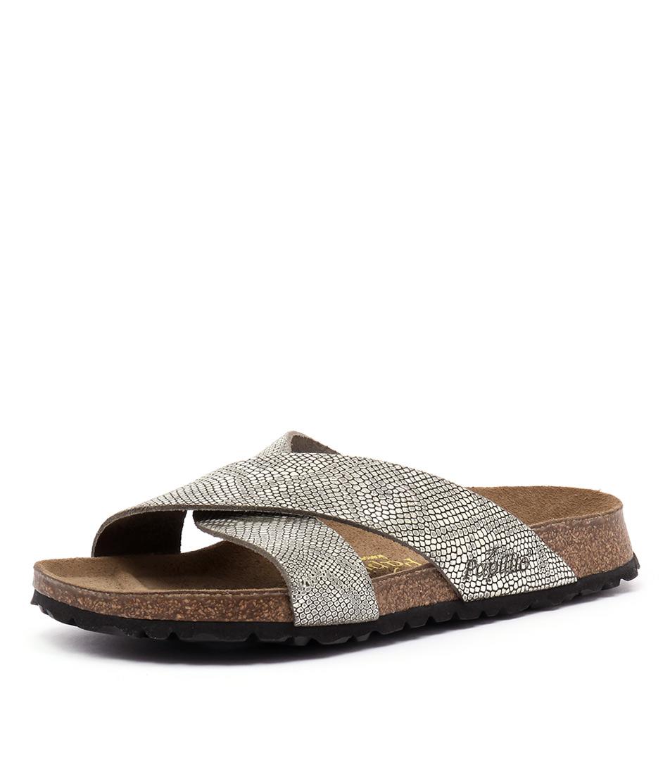 Papillio by Birkenstock Daytona Grey Python Sandals