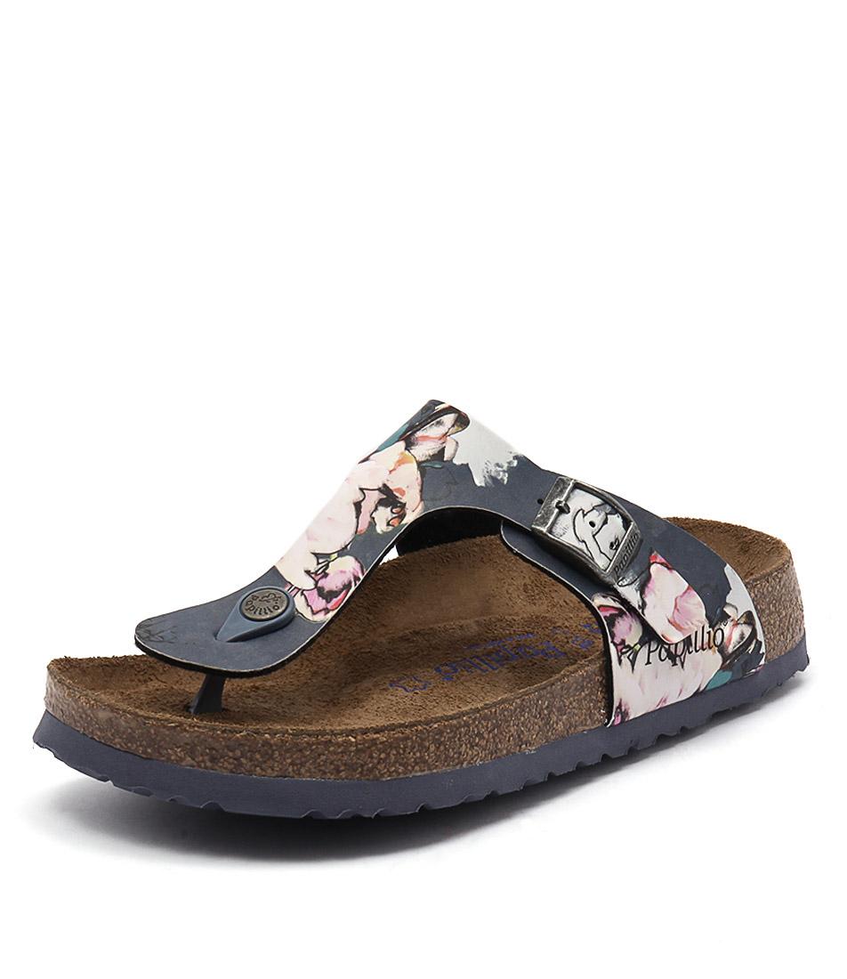 Papillio by Birkenstock Gizeh Bloom Navy Birko-Flor Sandals