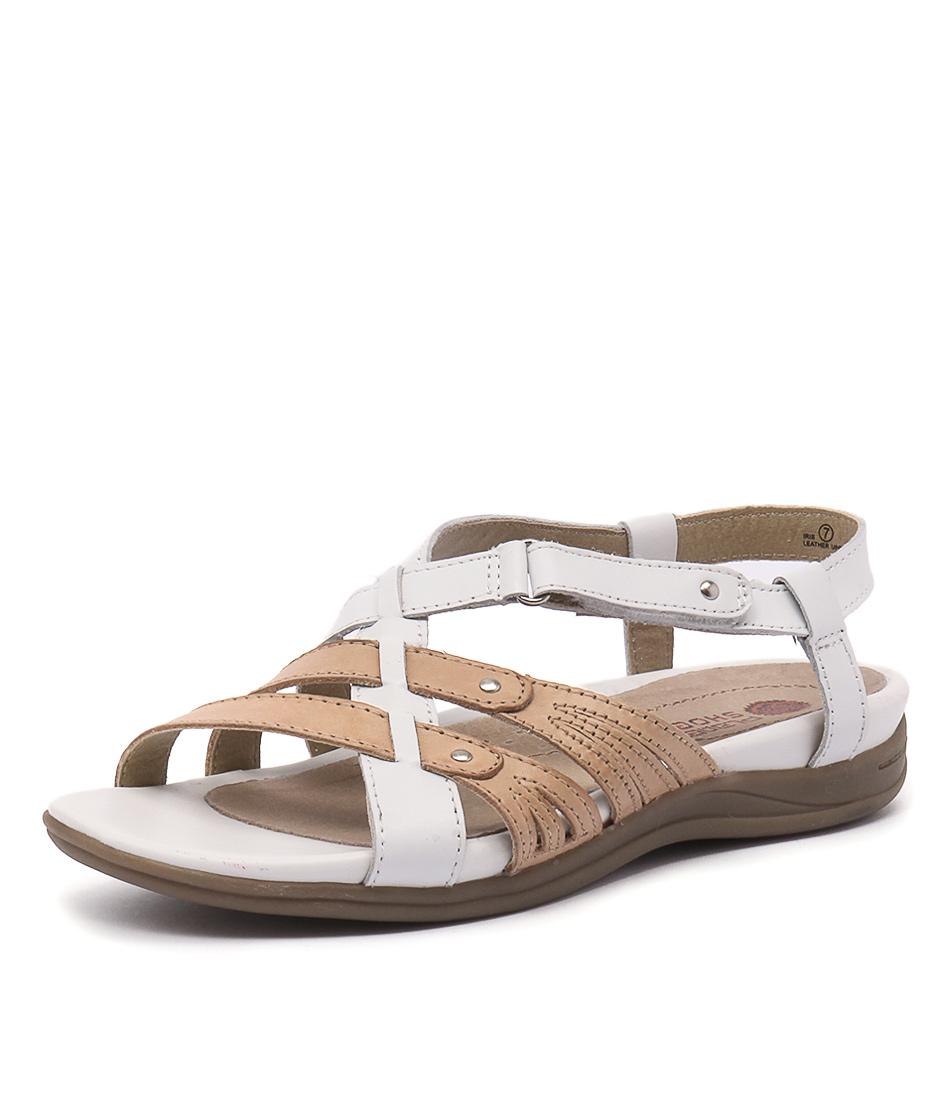 Planet Iris White-Sand Sandals