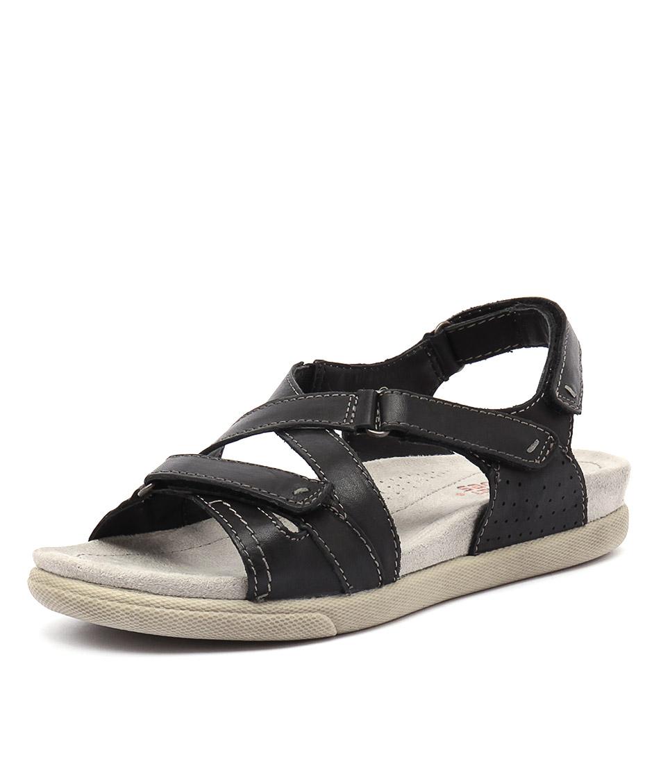 Planet Fe Black Sandals