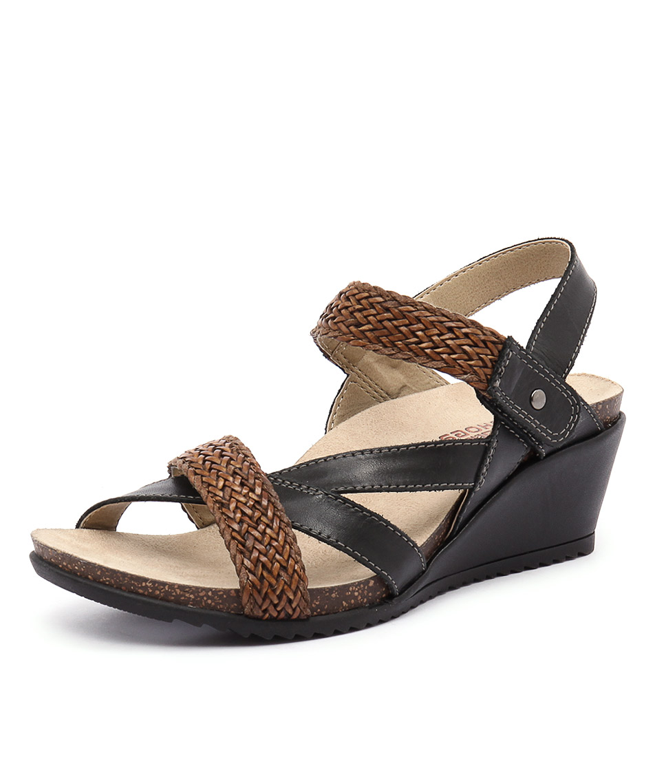 Planet Paloma Black-Alpaca Sandals
