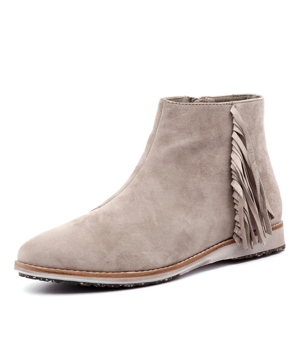 Rollie Madison Fringe Bootie Granite Nubuck Boots