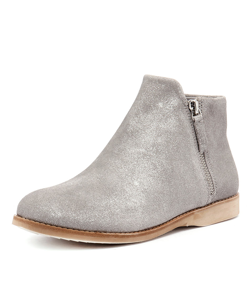Rollie Sidezip Bootie Brushed Pewter Boots