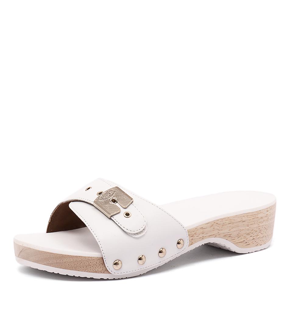 Scholl Paramount White Sandals