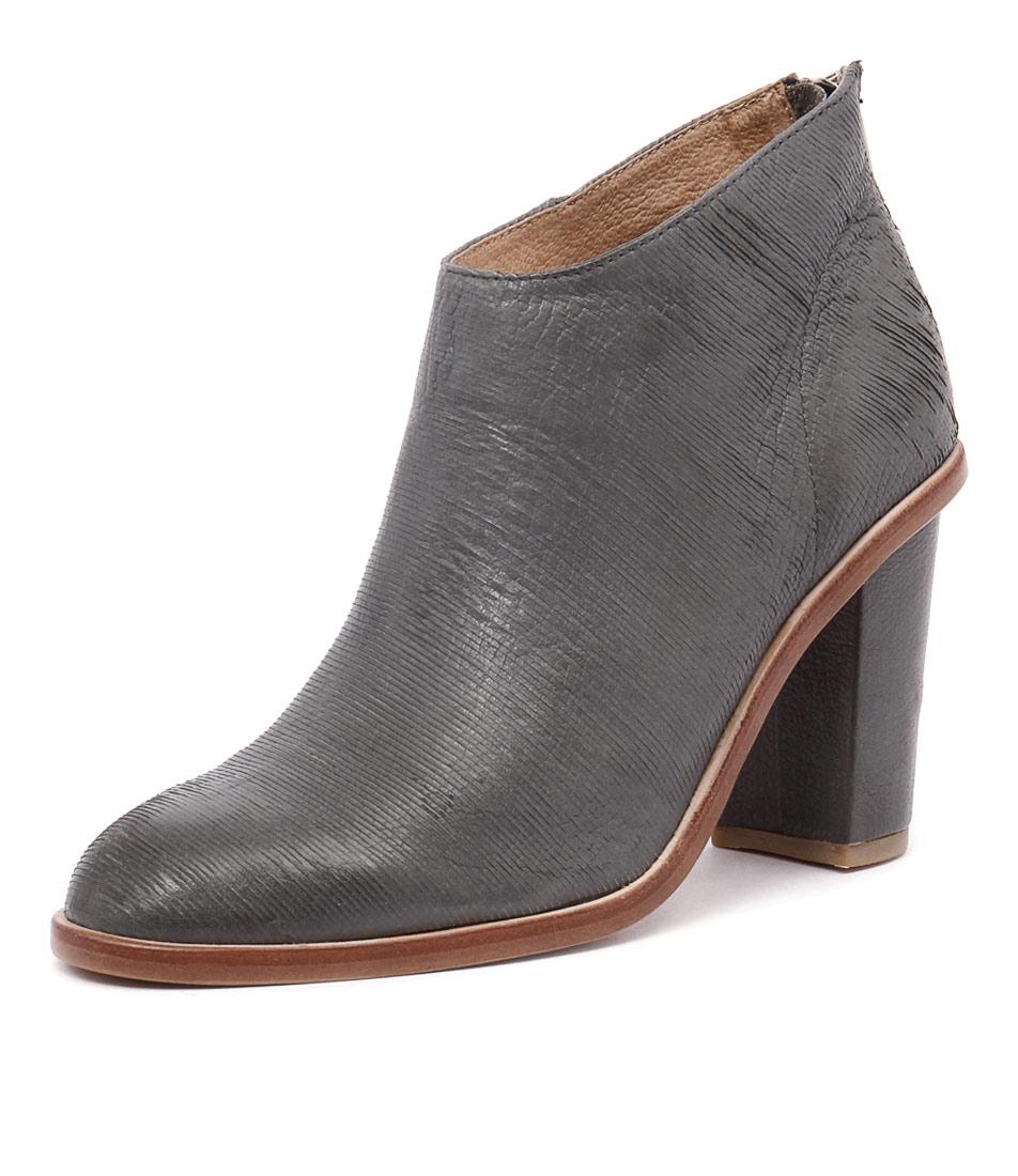 Silent D Digby Dark Grey Cut Lines Boots