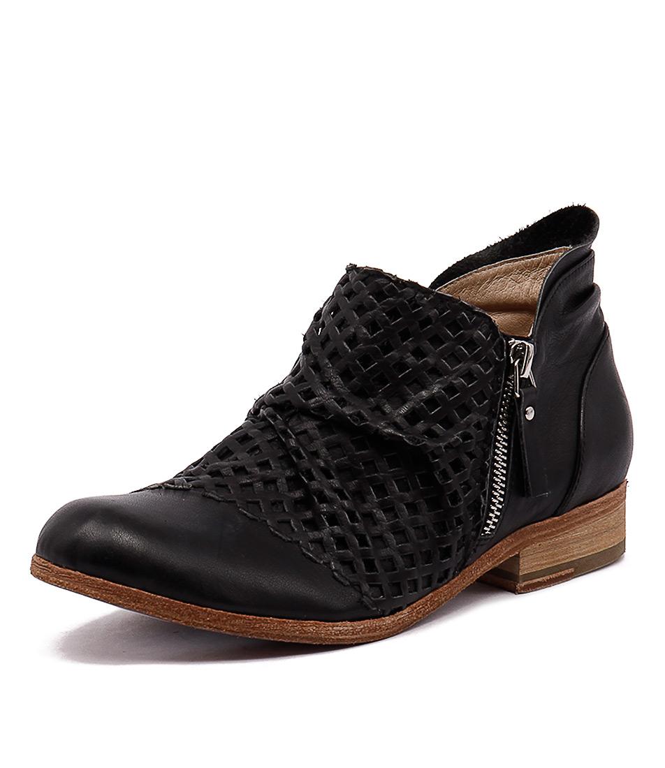 Silent D Lenin Black-Black Lasercut Boots