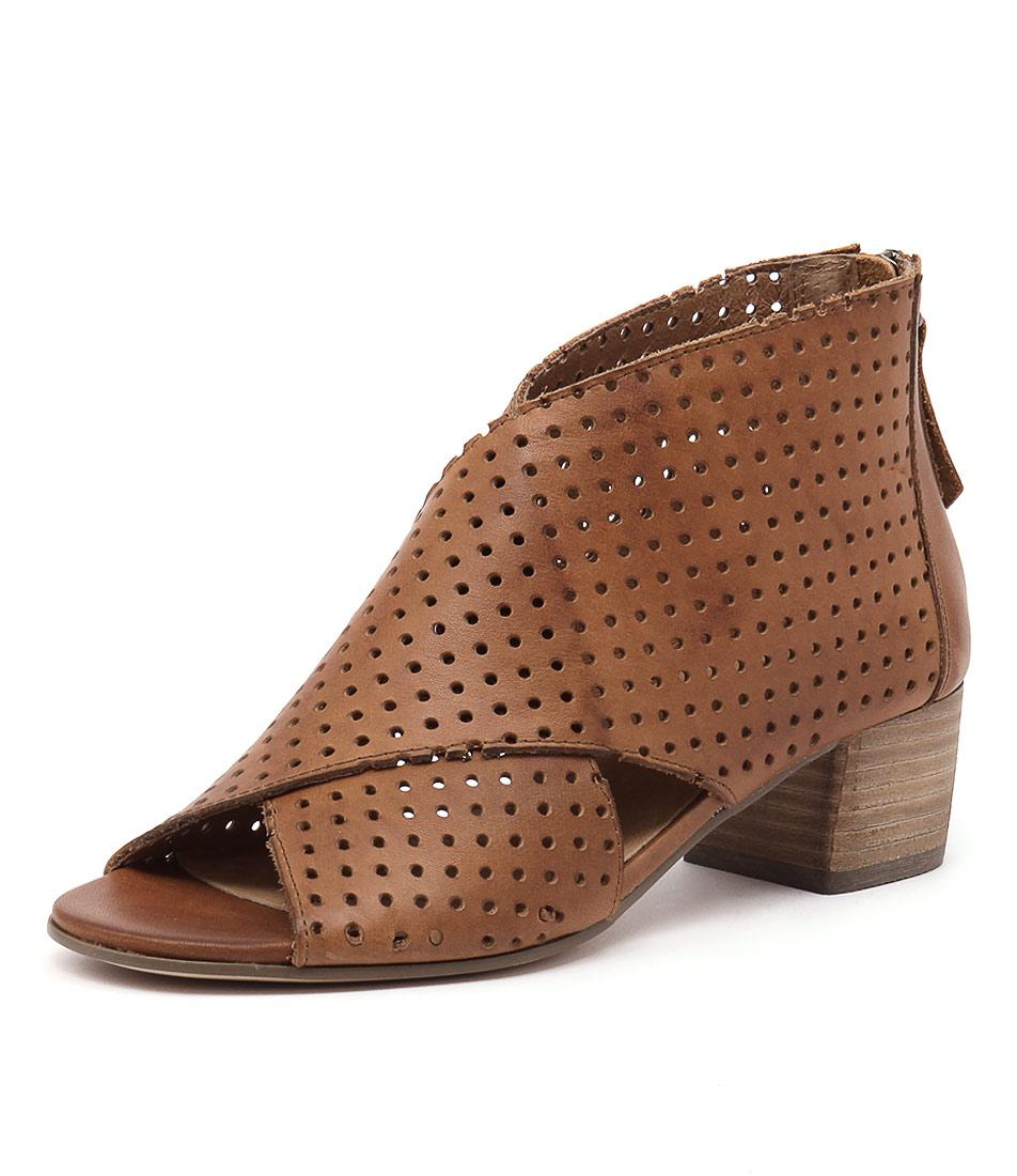 Silent D Endure Tan Laser Cut Holes Shoes