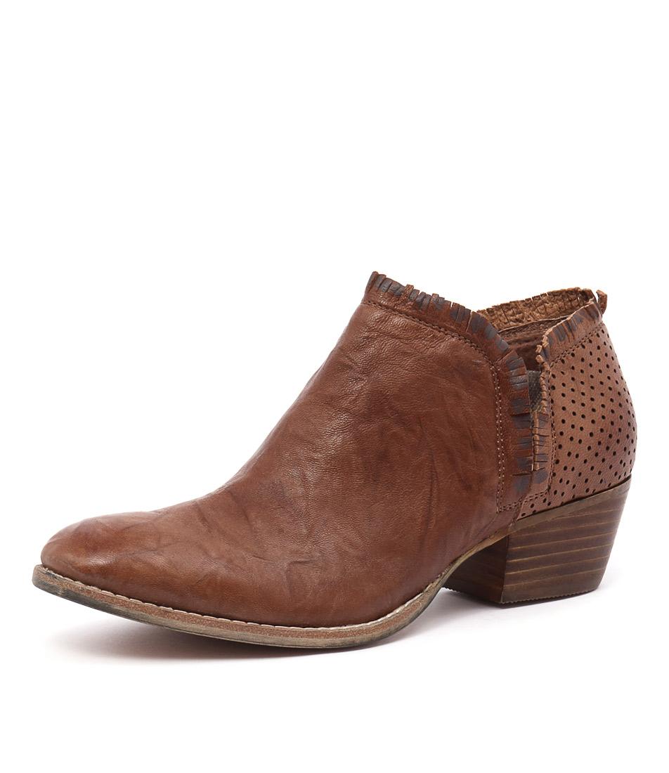 Silent D Ilana Tan-Tan Punched Boots