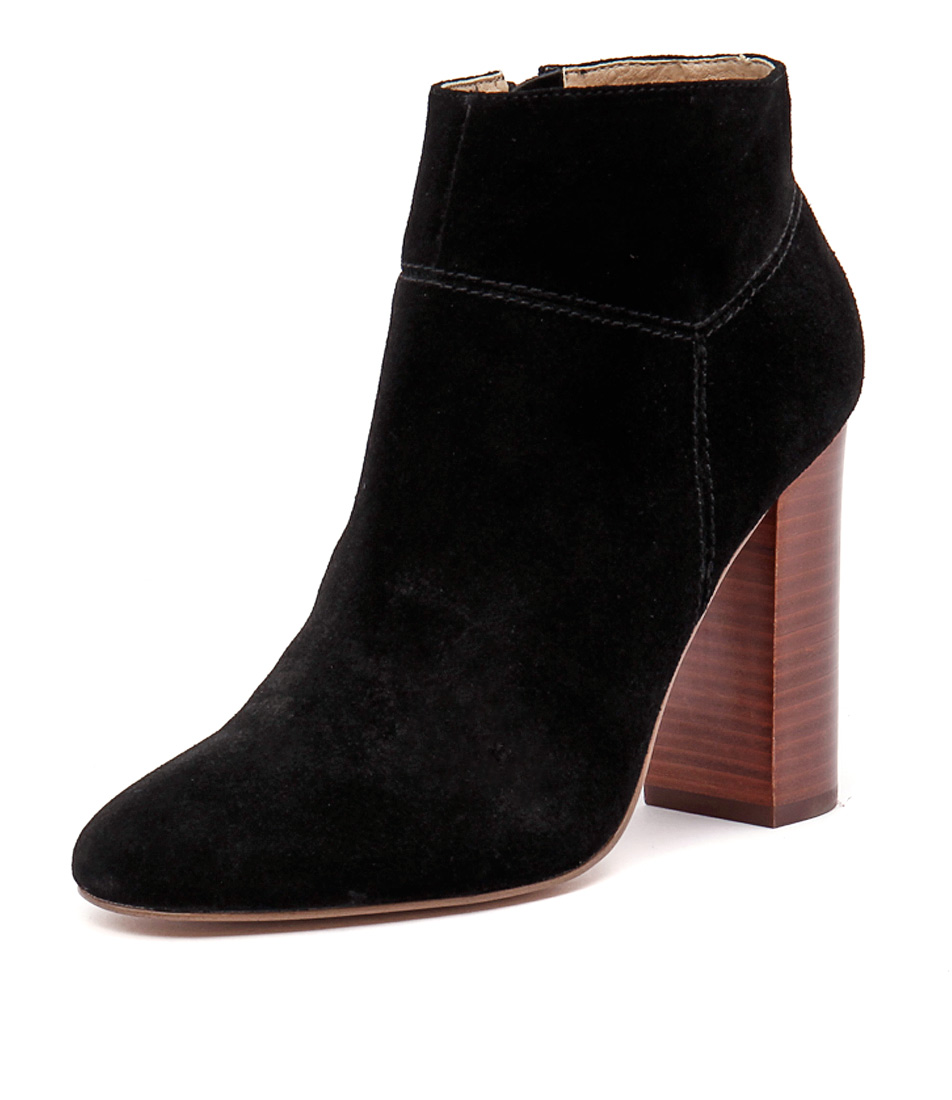 Siren Pip Black Cow Suede Boots