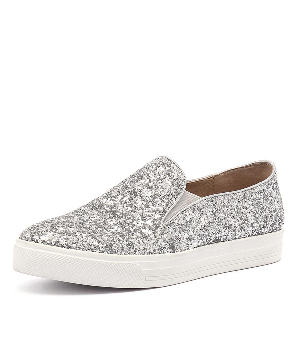 Siren Toby Silver Rock Glitter Sneakers