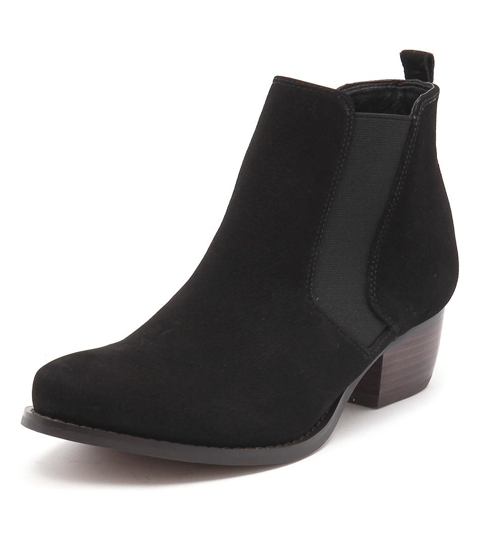 Siren Lulu Black Nubuck Boots