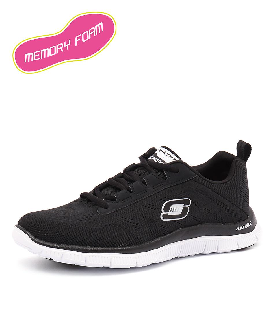 Skechers Flex Appeal Sweet Spot Black-White Sneakers