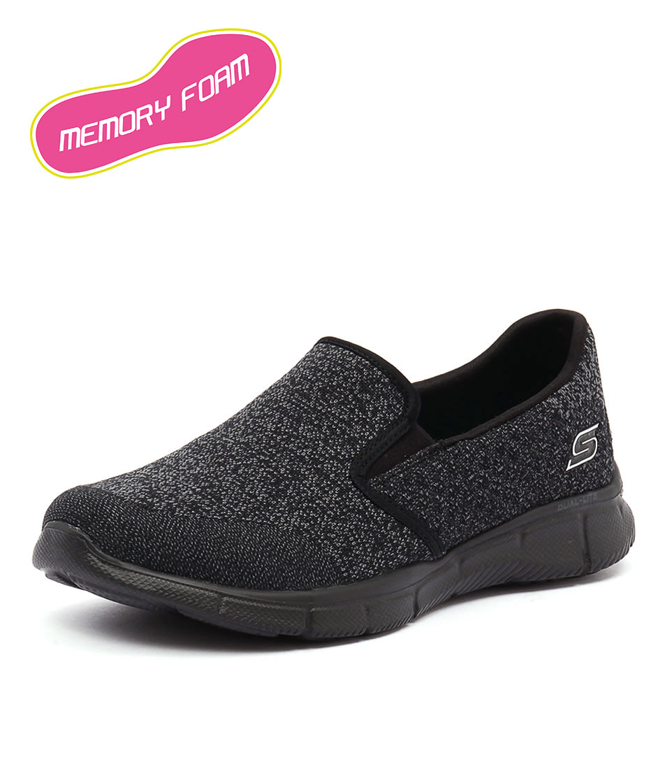 Skechers Equalizer Say Something Black Sneakers