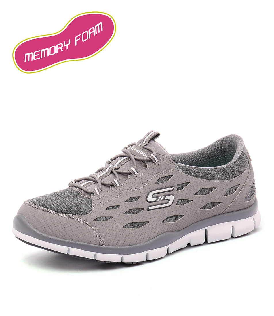 Skechers Gratis Hit It Big Grey Sneakers