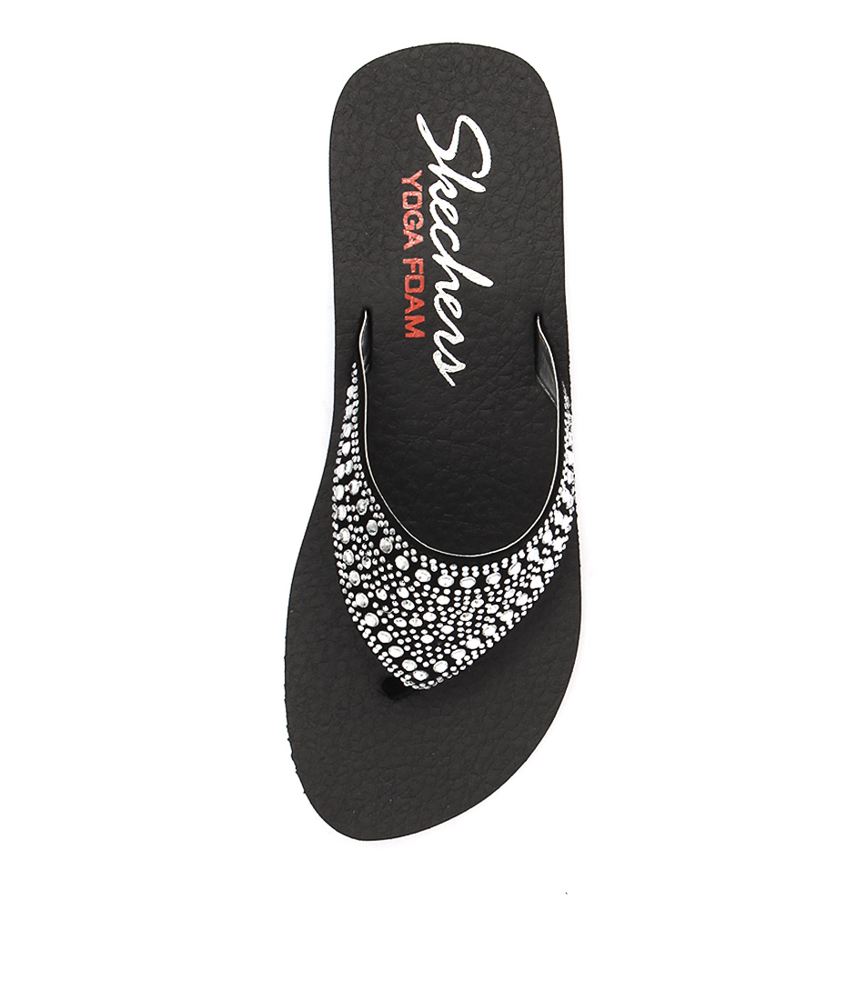 8cd25e06d3 38494 VINYASA BINDU BLACK SILVER SMOOTH by SKECHERS - at Styletread