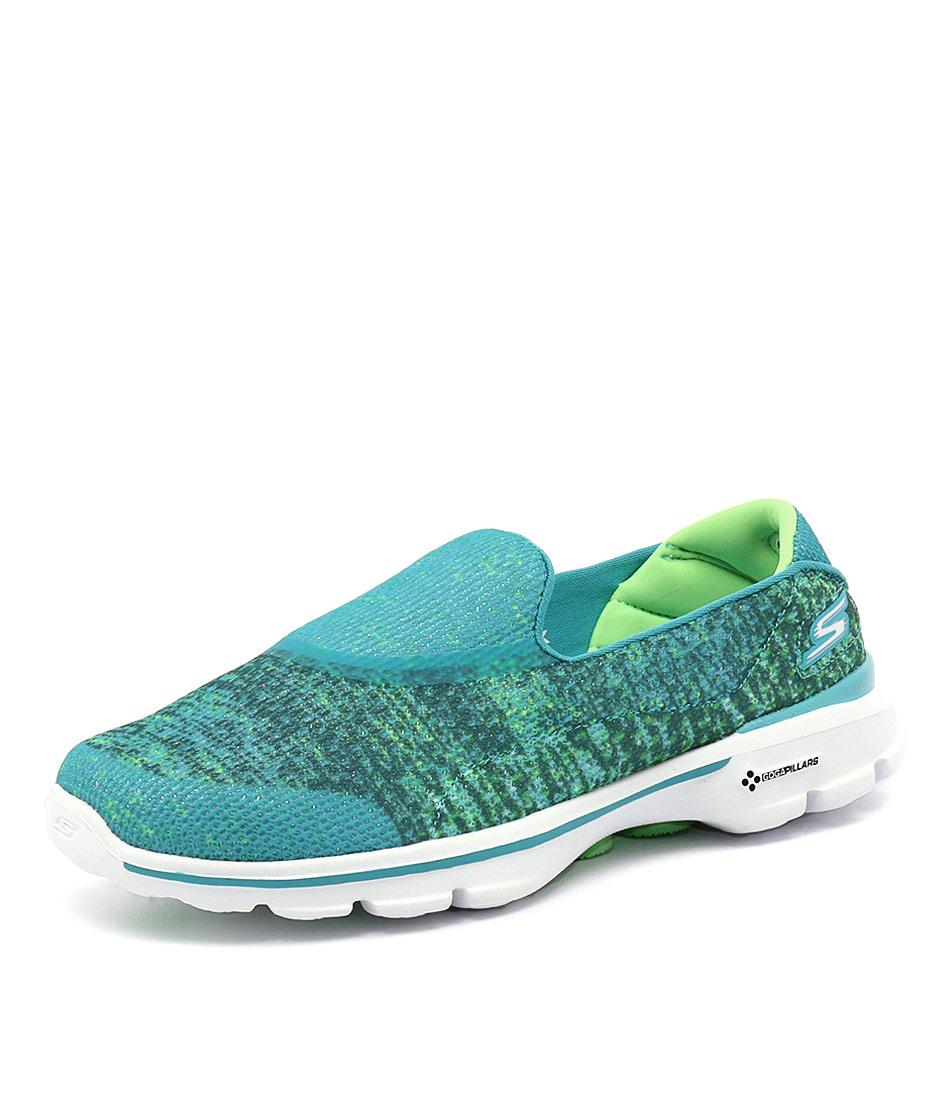 Skechers Go Walk 3 Glisten Teal Sneakers