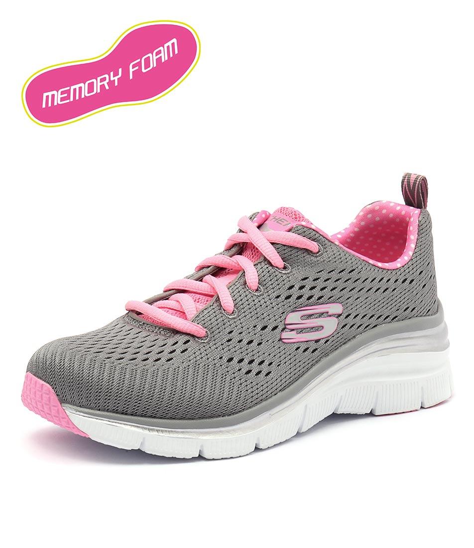 Skechers Fashion Fit Grey-Pink Sneakers