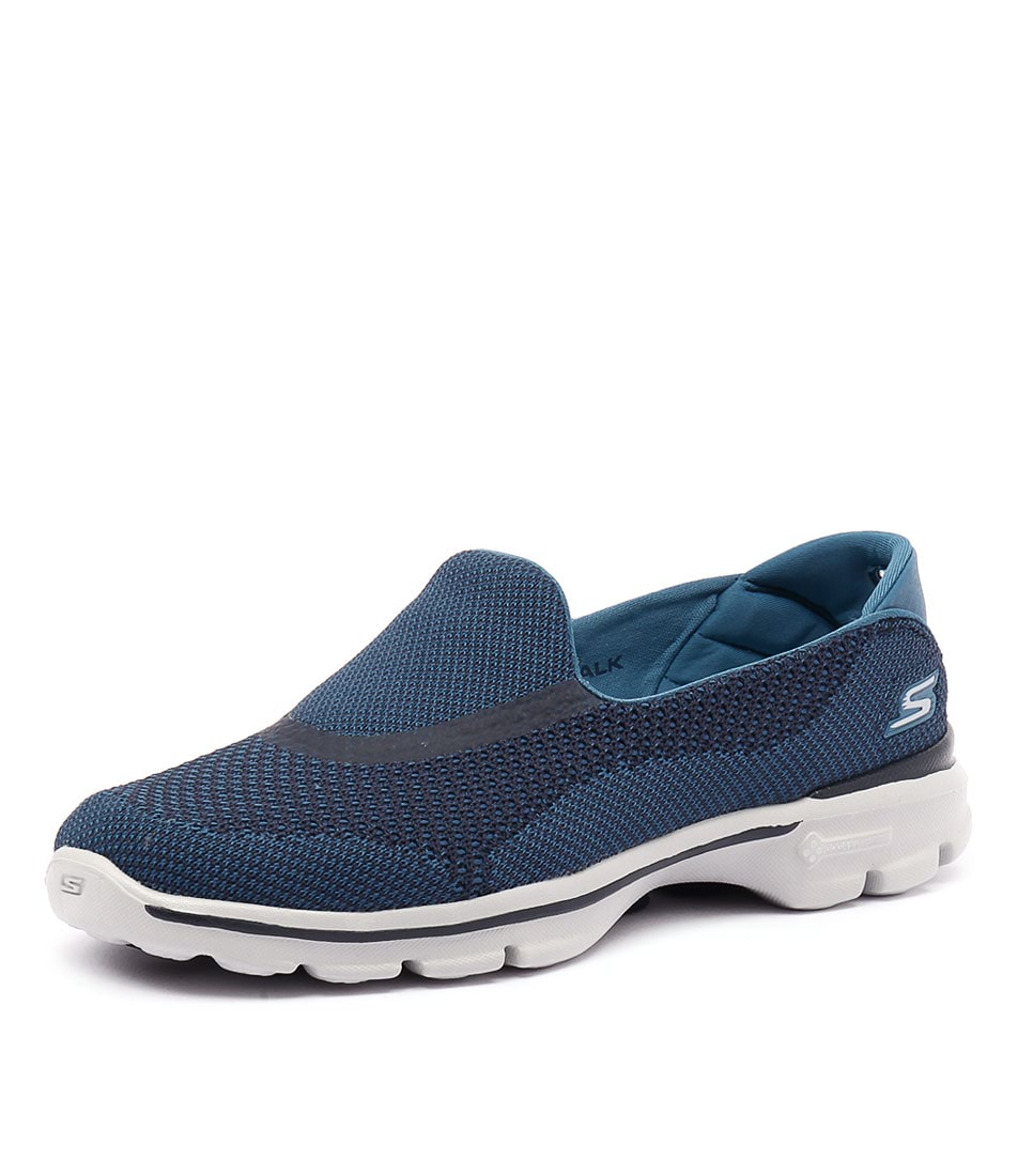 Skechers Go Walk 3 Go Knit Navy Sneakers