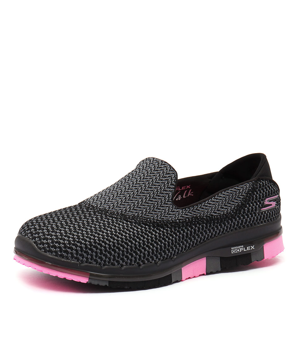 Skechers Go Flex Extend Black-Hot Pink Sneakers