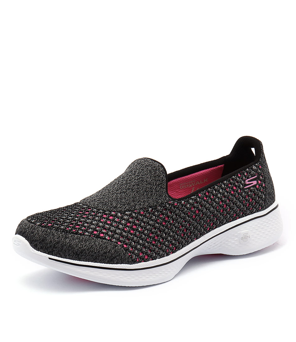 Skechers Go Walk 4 Kindle Black-Hot Pink Athletic Shoes & Sneakers