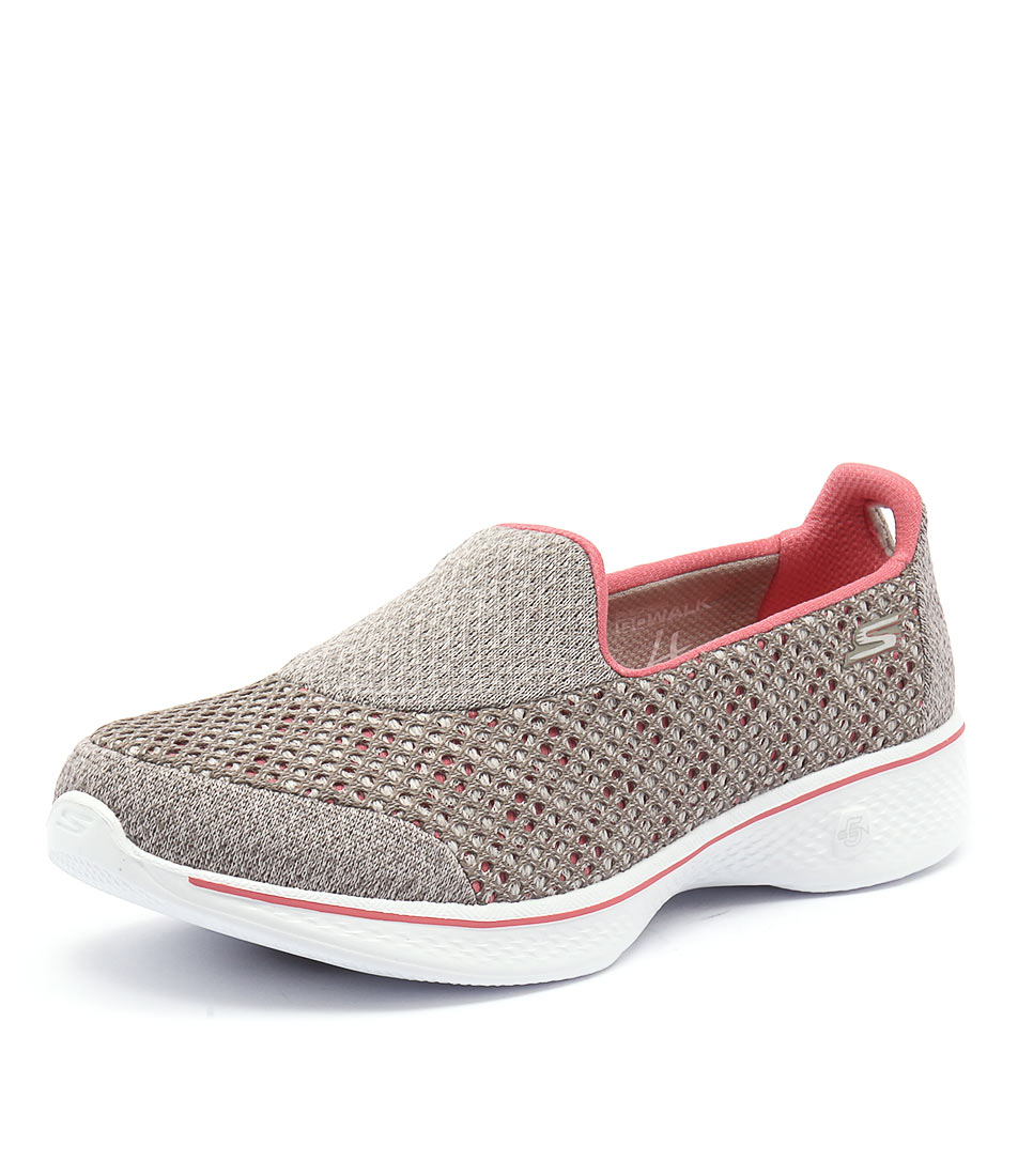 Skechers Go Walk 4 Kindle Taupe-Coral Sneakers