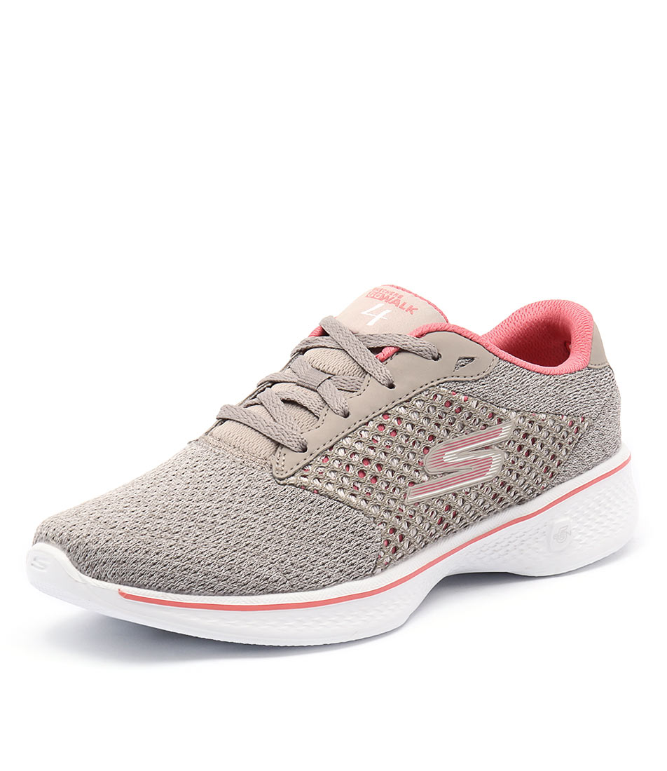 Skechers Go Walk 4 Exceed Taupe-Coral Sneakers