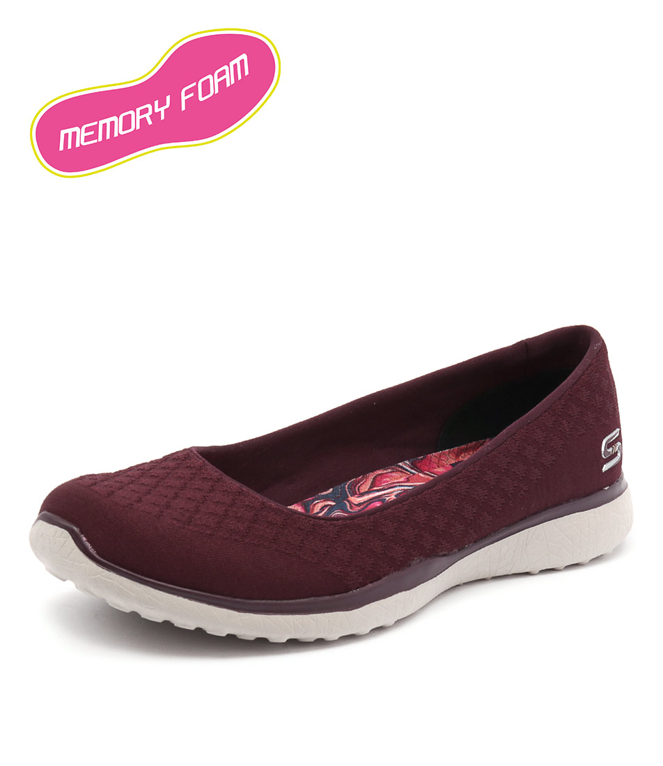 Skechers Microburst On Up Burgundy Loafers