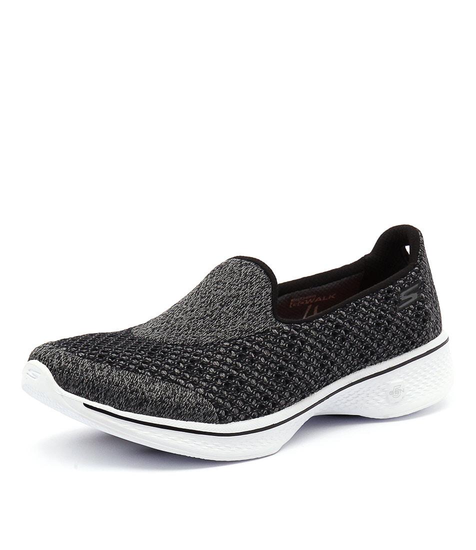 Skechers Go Walk Kindle Black-White Sneakers