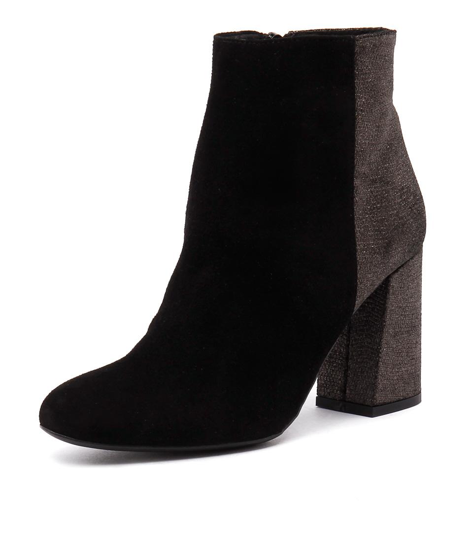 Sofia Cruz Taxi Black Suede Boots