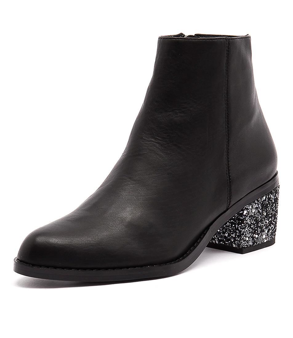 Sol Sana Jenni Boot Black-Steel Glitter Boots