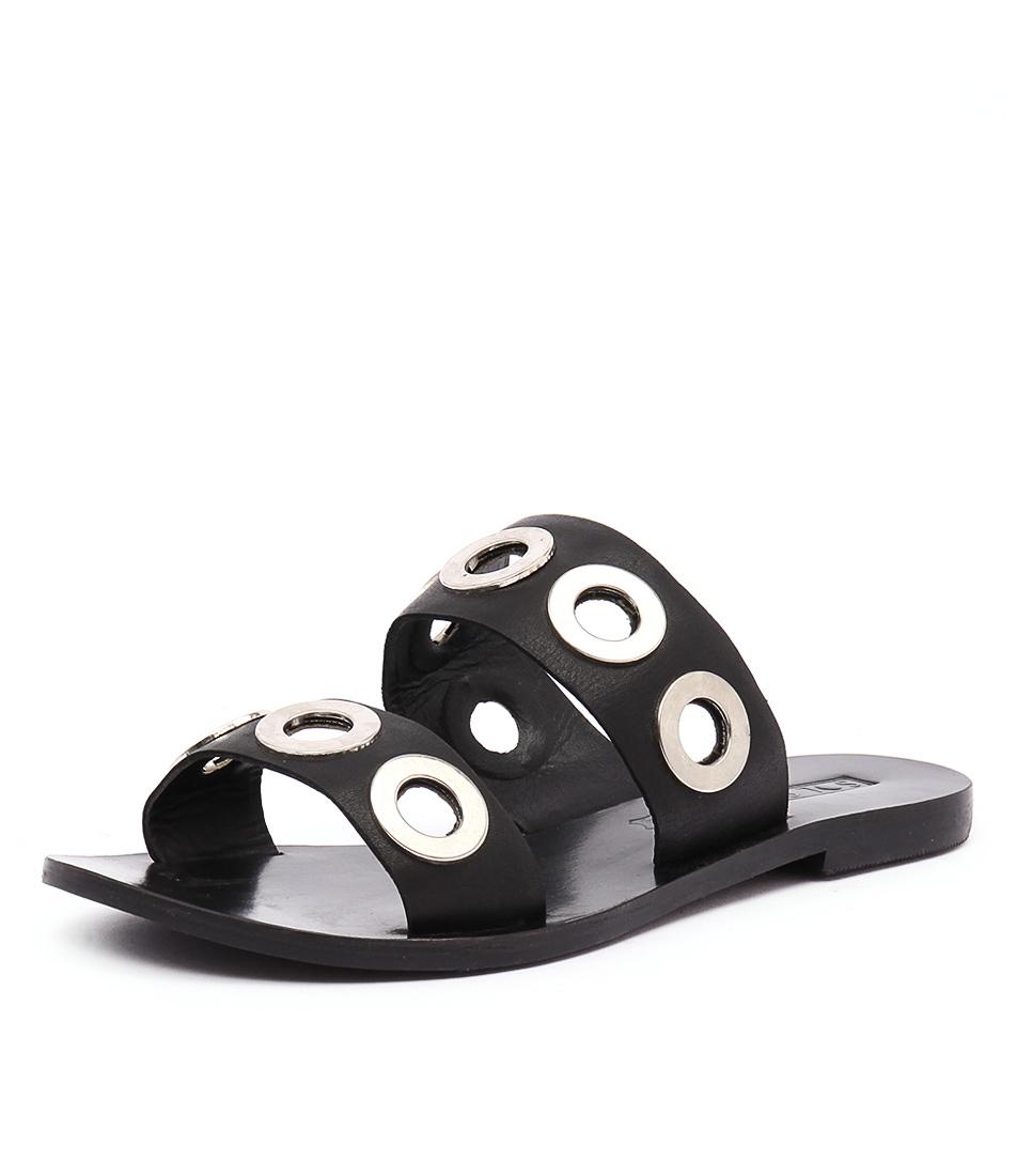 Sol Sana Hannah Slide Black Sandals